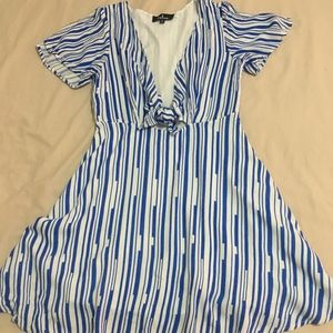 Lulus Nautical Skater Dress